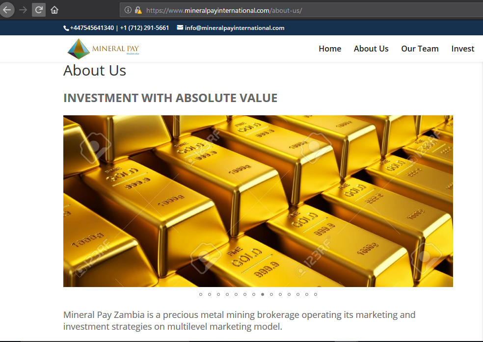 watermarked picture of gold on mineral pay website continued