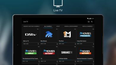 iPad showing DStv streaming service