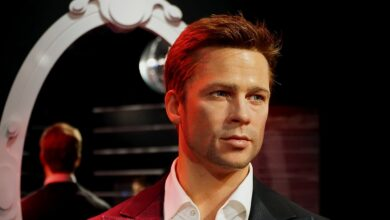 Wax figure of Brad Pitt